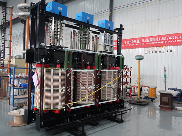 CRRC 4.8MVA dry type transformer